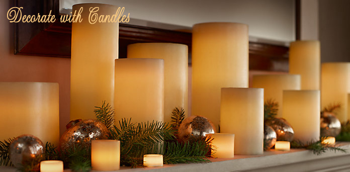 beautify home decor with candles